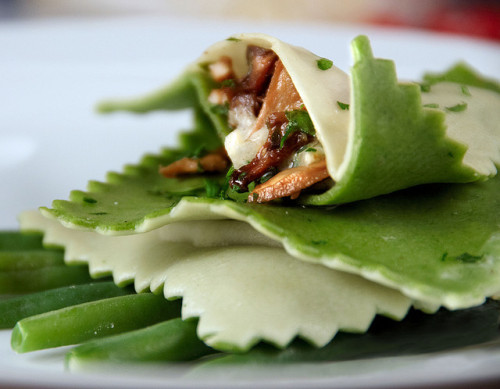 ravioli with wild mushrooms by TRISTAN TRISTAN on Flickr.