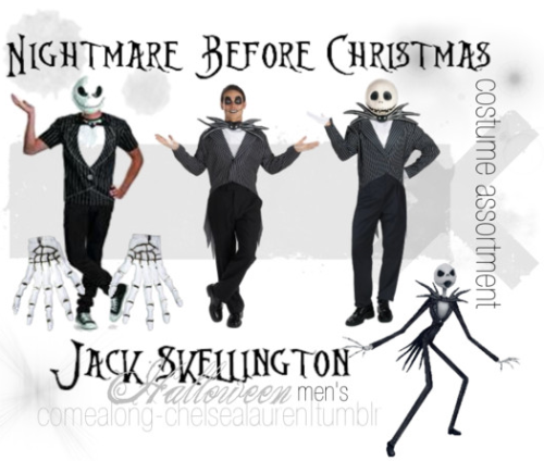 Jack Skellington (CA) | The Nightmare Before Christmas - Men's Halloween Costume Assortment - Click here!