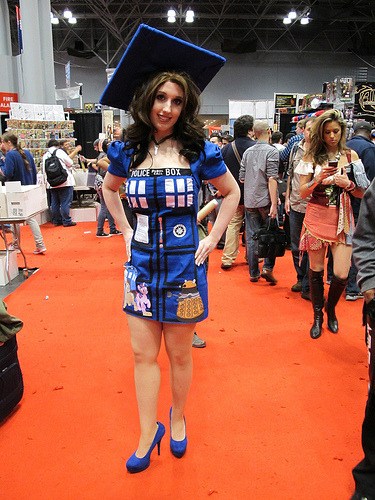 doctorwho:  brentkeane:  TARDIS dress (by Docking Bay 93)  And the BBC America Costume Contest goes until Tuesday…you can enter by submitting a photo right over here.   Guys look at the bottom of the dress… It;s Doctor Hoof and Twilight sparkle vs a dalek…. can I just say this is one of my favorite crossovers. because it is. I really just want lauren to confirm doctor hoof as being a shout out to doctor who because that would really just make my day.
