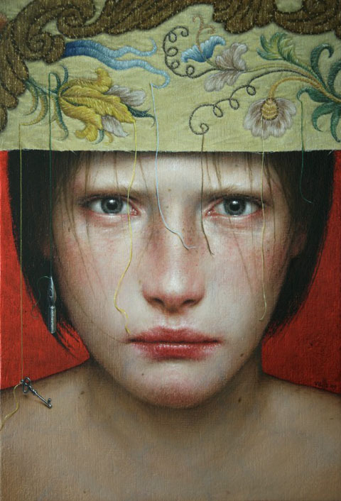 felixinclusis:  Dino Valls. Book cover image of El mes más cruel by Pilar Adón