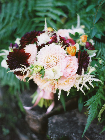 Bouquet designed by Janie Medley Flora Design…captured by Amelia Johnson Photography….see more at The Bride's Cafe!