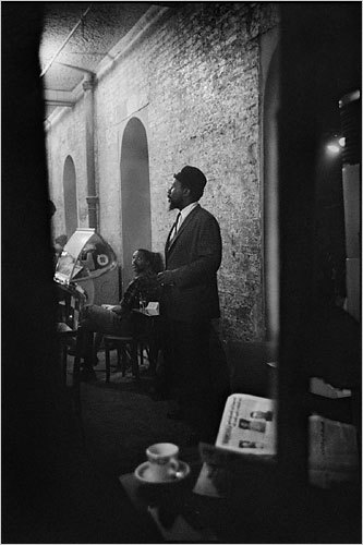 Thelonious Monk at the Blue Angel, July 1963.