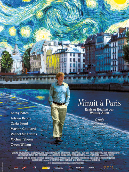Midnight in ParisDirected by Woody AllenWow. This comes as a complete beautiful surprise for me, didn't think it would be this good. But it is. Totally beautiful, deep, thoughtful, funny. If you ever wonder on how beautiful Paris is, or was, look no further. This movie will impress you, definitely. If you happen to be an English Literature major, this is a must, you'll be surprised. Guaranteed. If you love Woody Allen's movies, you'll love it, if you never see his movie, this is a great beginning to enjoy the witty, smart, and charming cinema works of Woody Allen.
