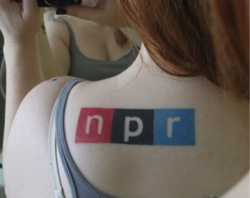 fuckyeahtattoos:  This is my new favorite tattoo, done by fellow NPR nerd and all-around fantastic guy, James, at Bethesda Tattoo Company in Bethesda, Maryland.