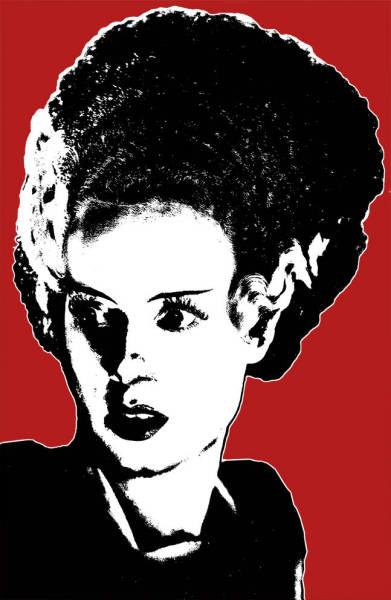 The Bride of Frankenstein (1935), played by Elsa Lanchaster. Boris Karloff played Frankenstein's Monster. Copyright Rad Recorder 2011.
