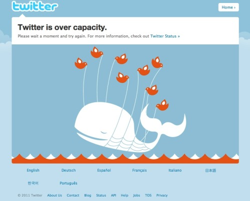 Fail whale returns after a long absence