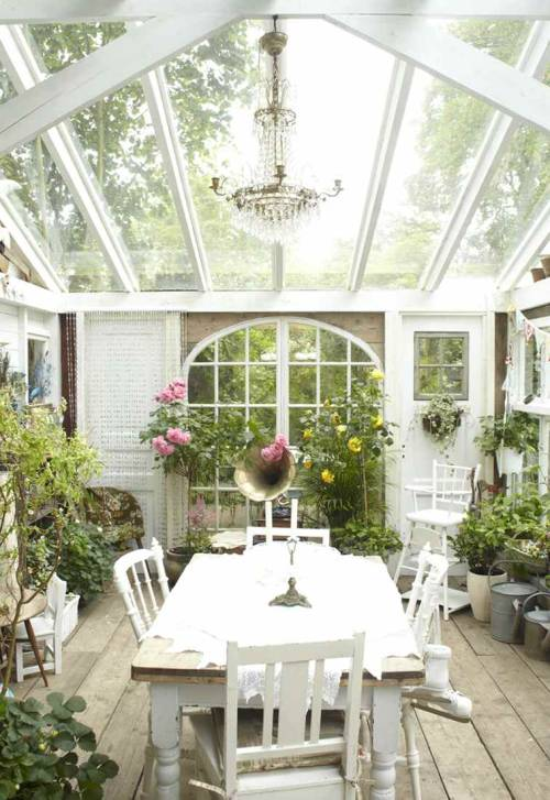 interiorstyledesign:  Romantic shabby chic greenhouse (via ZsaZsa Bellagio: Ooooooh— Shabby Time, dreamin'….)