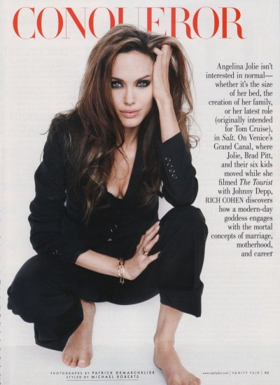 fuckyeahvintagediary:  Angelina Jolie by Patrick Demarchelier for Vanity Fair Aug 2010