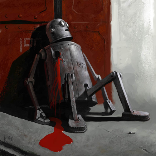 robotcosmonaut:  Robot is Dead  our robot, right now. (T_T)