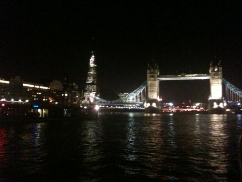 Tonight by the River Thames in London.