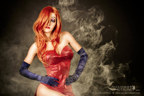 Jessica Rabbit LOVE the makeup! :D