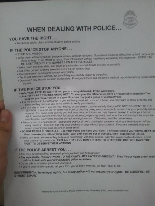 This was given to me at Occupy Miami. Thought I'd share.
