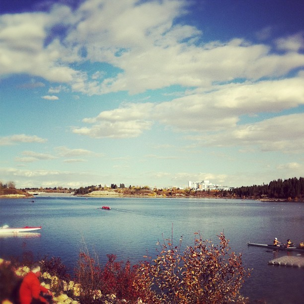 Great day for a row (Taken with Instagram at North Glenmore Park)
