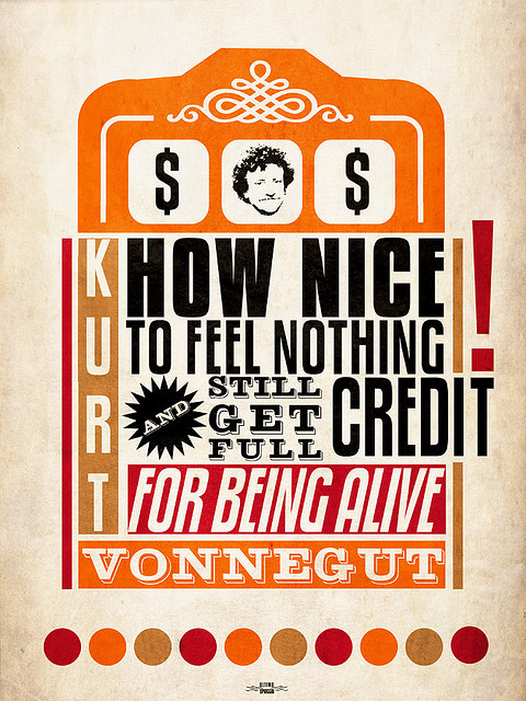 Everyone's a winner… Kurt Vonnegut quote illustrated by Gabriele Quartero :: via flickr.com