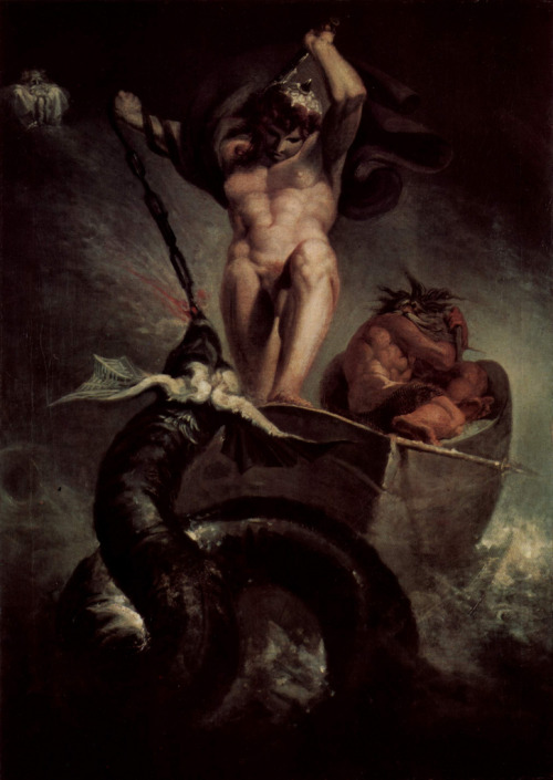 The Battle of Thor and the Midgard Serpent by Henry Fuseli, 1788