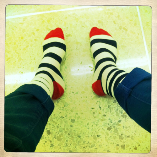 Fun socks at the airport!