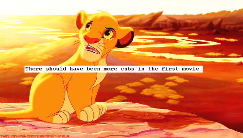'There should have been more cubs in the first movie.'