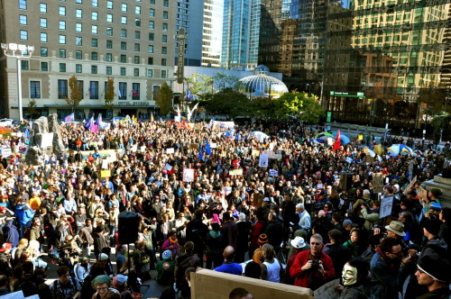 Today at #OccupyVancouver at the Vancouver Art Gallery.