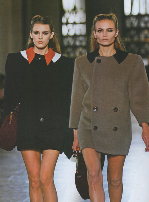 highlikefashion:  Colinne Michaelis and Natasha Poly at Miu Miu Fall 2011