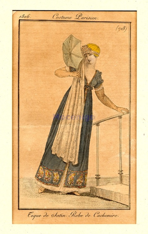Fashion plate, 1806 France, Costume Parisien