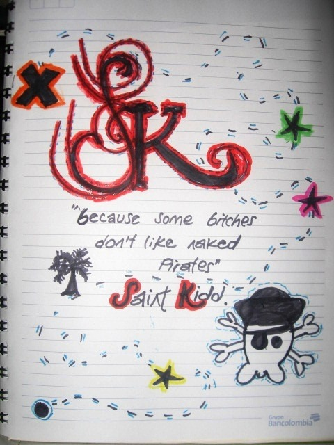 saintkiddargentina:  A draw from Saint Kidd Colombia Crew :)