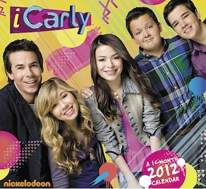 icarly 2012 calendar. notice the sam-spencer.  - miranda: still hot.  - why is nathan further away from the center than gibby?