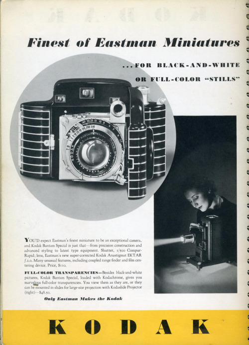 Advertisement for the Kodak Bantam Special. 1937.
