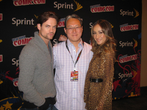 Shane West, Albert Kim, and Maggie Q via @MagicBranch