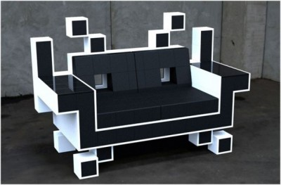 What's great about this Space Invaders couch design by Igor Chak is that not only does it appeal to my inner videogame, but its modernist look makes my inner design geek happy as well. Uber want!