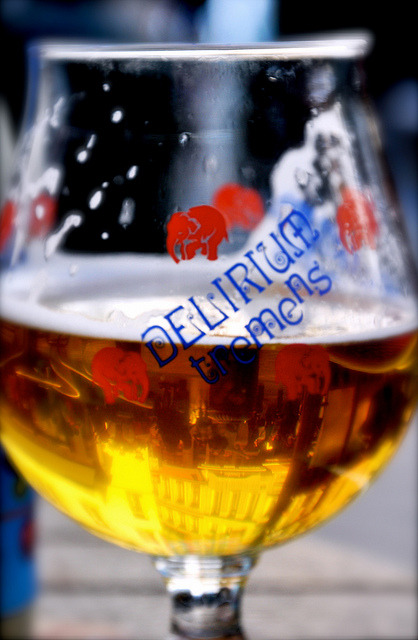 Brussels Reflected In Beer by Lanamaniac on Flickr.