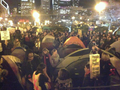 WOW. MASS ARRESTS FOR #OCCUPYCHICAGO occupyus:  OccupyChicago, where dozens are now being arrested.