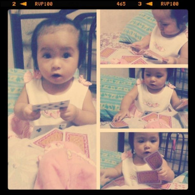 Caught in the act! :)) #littleSophia