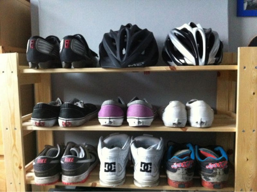 My shoe rack is the perfect set up.