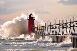 Late October on Lake Michigan by mic stolz on Flickr.Good God… Timing? Hooooly ssshiiitE