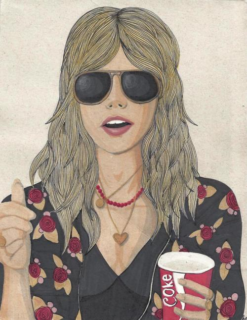 eatsleepdraw:  Stevie Nicks, Copic Markers and watercolour. itshannahisabelle.tumblr.com