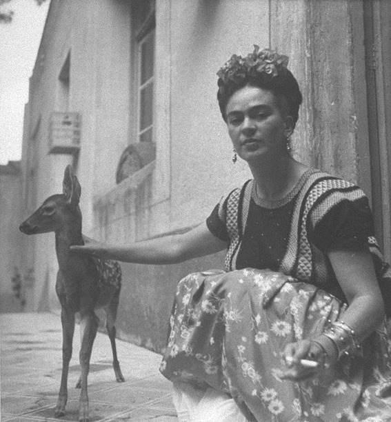 Frida Kahlo photographed by Nicholas Muray