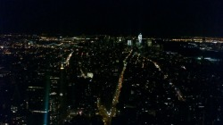 View from on top of the Empire State Building. I miss this so much! The lights made me feel at home.