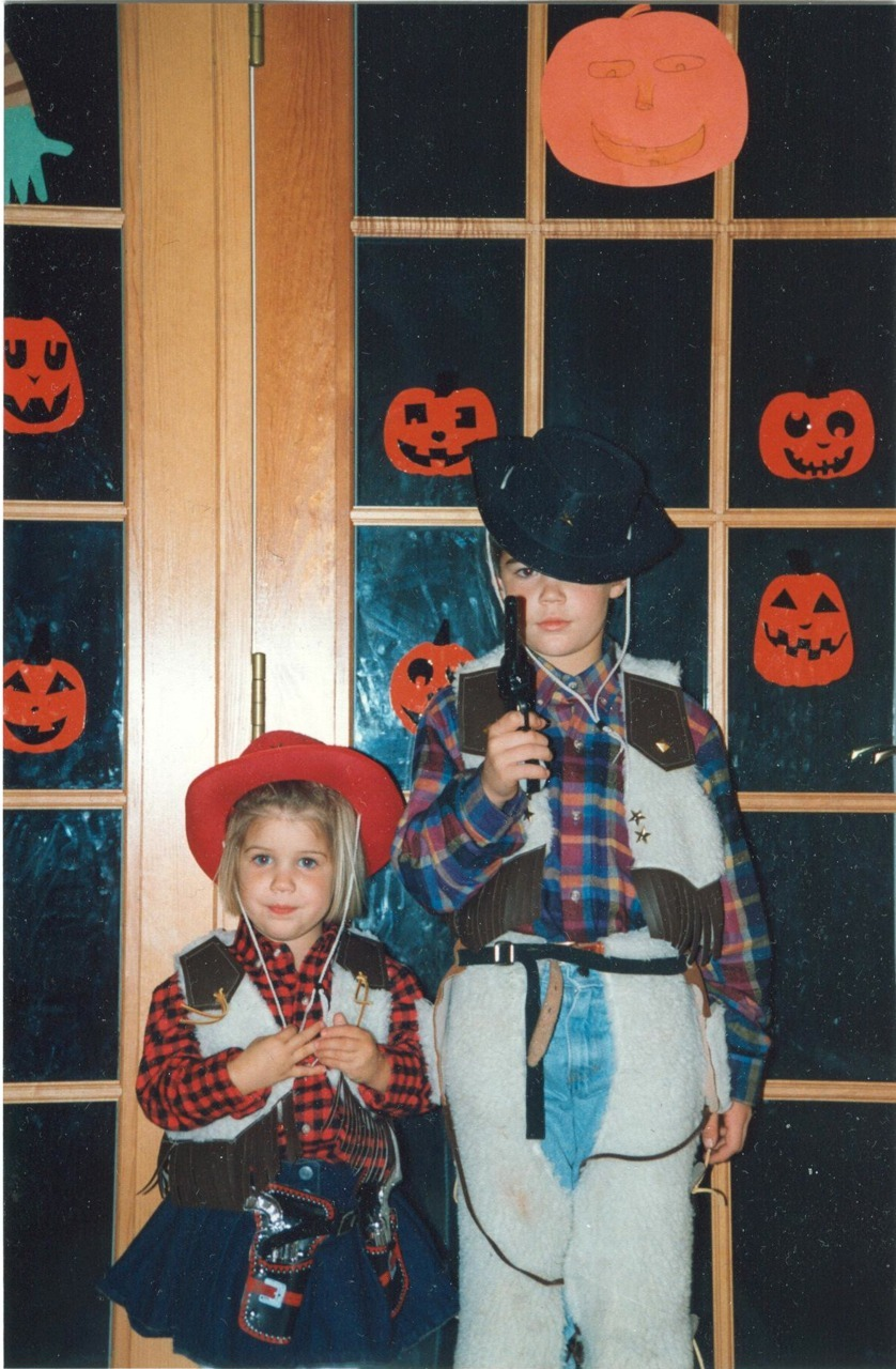 Happy Halloween! Ya…my brother and I were really cool kids.