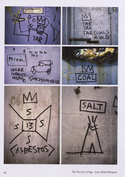 Jean-Michel Basquiat tags from Tag Town: The Evolution of New York Graffiti Writing  via nevver: Tombolare