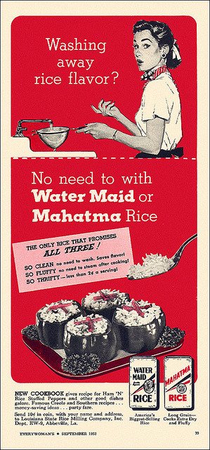 Water Maid/Mahatma Rice Ad, 1952