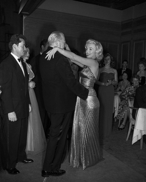 Marilyn Monroe dances with costar Charles Coburn, 1953