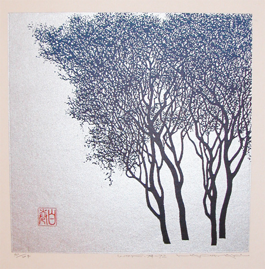 Haku Maki      [+] Title:Winter Tree (work 74-72) link
