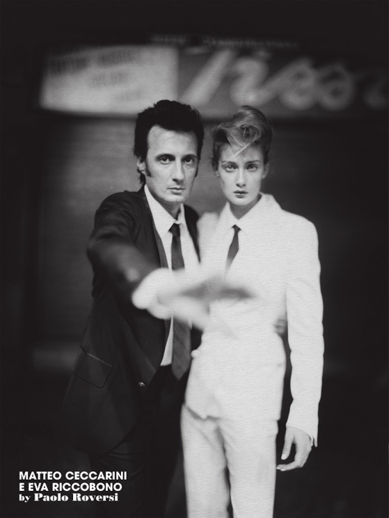 Eva Riccobono & Matteo Ceccarini photographed by Paolo Roversi - L'Uomo Vogue: January 2007 - People Who Steal the International Scene