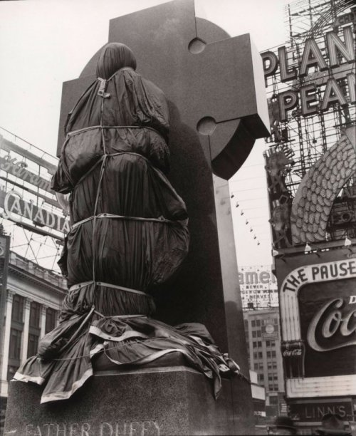 Father Duffy, Times Square, April 14, 1937 Berenice Abbott