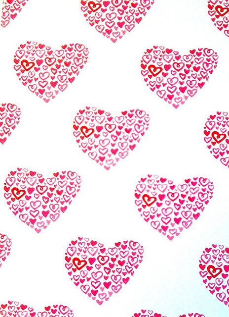 magicfran:  heart pattern repeat by Wetpaint Design & Illustration on Flickr.