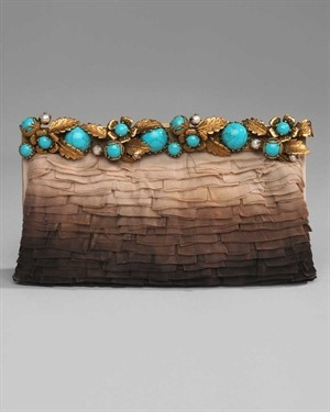 Debbie, an idea for your pretty little clutch bag…  jewel like buttons and beads…