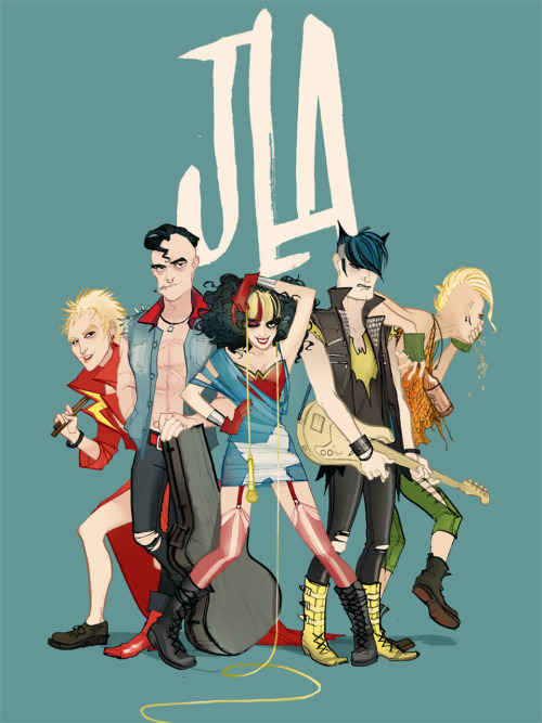 Punk JLA by Annie Wu.. she makes great illustration, check her out.