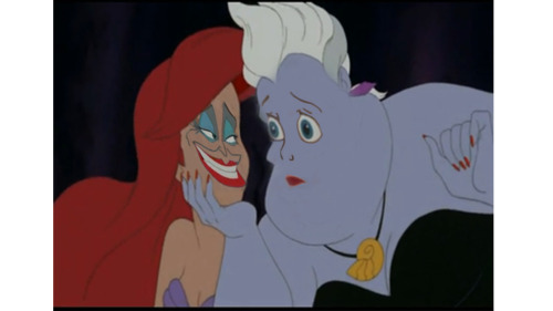 pandatecha submitted. Mod comment: Ursula looks like Ariel just kicked one of her eels.