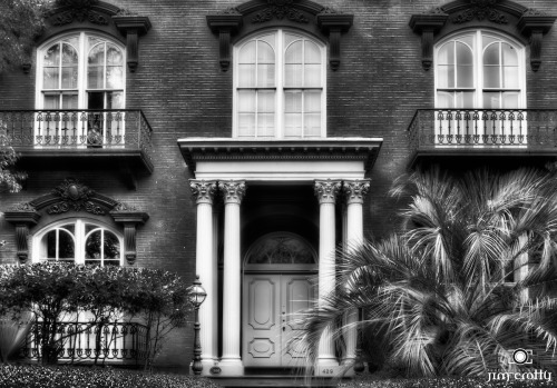 "Mercer Williams House ""Midnight in the Garden of Good and Evil"" Savannah, Georgia. #blackandwhitephotography"