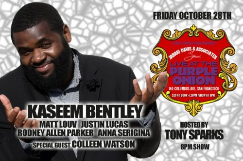 10/28. Jabari Davis and Associates present Kaseem Bentley @ The Purple Onion. 140 Columbus Ave. SF. 8 PM. $20. Featuring Matt Louv, Justin Alan, Rodney Allen Parker, and Anna Seregina. [Big brother, Kaseem, and one of the dopest line-ups in Jabari/Associates history. This is major!]